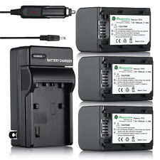 NP-FH70 Battery + charger For Sony DCR-DVD650 DVD108 SR47 HDR-CX100 SR11 HDR-UX1
