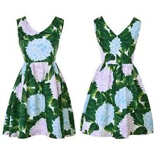 Fasion Womens Floral Printed Sleeveless Skater Dress A-line Casual Party Dresses