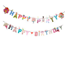 Happy Birthday Party Paper Bunting Banner Party Decoration for Baby Shower