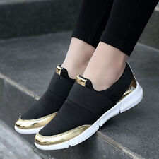 Women's Sneakers Casual Lace Up Striped Sport Running Trainers Shoes