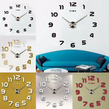 DIY Large Wall Clock Modern Sticker Design Style Watches Home Office Room Decor