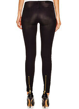 NWT MICHAEL KORS Exposed Black Zip Ankle Stretch Skinny Mid Rise Jeans $135