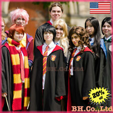 Adult Child Harry Potter Halloween Cosplay Costumes Gryffindor Robe Tie Scarf
