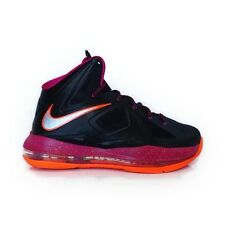 Nike LeBron X (GS) Black Floridian Fireberry Basketball Shoes 543564 004 New