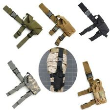 Right Drop Leg Adjustable Tactical Army Pistol Gun Thigh Holster Pouch Holder