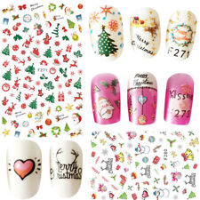 Adhesive 3D Nail Stickers Christmas Decal Manicure Nail Art Decoration DIY