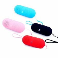 Subwoofer Wireless Mini Bluetooth Capsule Pill Portable Stereo Speaker iPhone TF