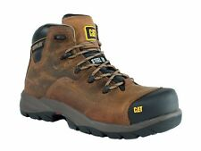 Caterpillar COOLANT CHI ST Steel Toe Mens Work Casual Brown Leather Boots