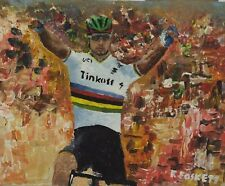 Peter Sagan World Championships Cycling Original painting framed or unframed