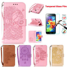Luxury Retro Embossed Wallet Leather Case Flip Cover For Samsung Galaxy S5mini