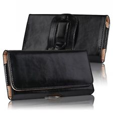 HORIZONTAL LEATHER CASE FOR IPHONE Samsung CARRYING POUCH BELT CLIP HOLSTER