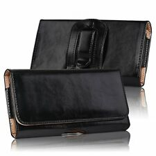 Horizontal Leather Holster Carrying Pouch Belt Clip  Case for Iphone Samsung