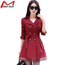 2017 Women Trench Coat Lace Slim Double-Breasted Trenchcoat Especially Female Ca