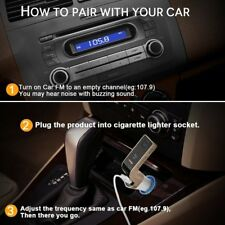 Bluetooth Car Kit MP3 Player FM Transmitter Hands-free LCD Radio Adapter Kit USB