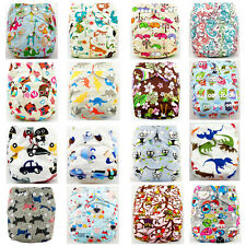 Baby Printed Cloth Nappy Reusable Cloth Nappies Diaper Covers Liner Insert EAUS