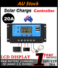 12V/24V Solar Panel Battery Regulator Charge Controller 20A PWM LCD Display BV