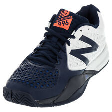 NEW BALANCE | Men`s 996v2 D Width Tennis Shoes White and Blue | MC996BW2D-S15