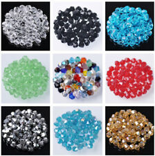 Wholesale 1000pcs 3mm Bicone Faceted Crystal Glass Loose Spacer Beads Bulk Lot
