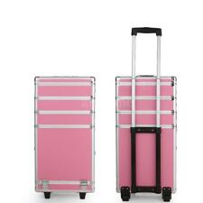 Pro 4 in1 Aluminum Rolling Makeup Cosmetic Train Case Wheeled Box 3 Color F2J2