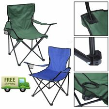 Folding Camping Chair Portable Fishing Beach Outdoor Garden Chairs Seat 2 Color