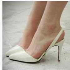Sexy Point Toe Patent Leahter High Heels Pumps Shoes