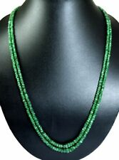 Natural 2/3/4/5/6 Multi Strings Emerald 4mm Size Faceted Beads Necklace Gemstone