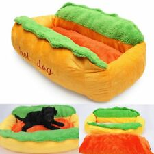 Hot Dog Washable Cotton Kennel Pet Bed Cat Nest Puppy House Warm Mat Cushion BE