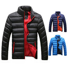 Men's Winter Warm Slim Fit Thick Bubble Coat Casual Jacket Parka Outerwear-Tops