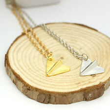 Pro One Direction 1D Harry Styles Paper Airplane Silver Gold Charms Necklace