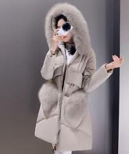 Women's hooded fur collar coat Chic Jacket winter duck down Snow parka outerwear