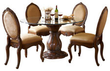 """AICO Furniture - Lavelle Melange 5 Piece 54"""" Round Glass Top Dining Table Set -"""