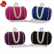 Rhinestone Bling Bridal Shoulder Clutch Bag Chain Evening Women Handbag Purse