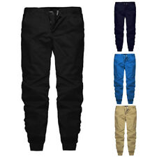 Men's Track Pants Casual Sports Harem Slacks Sweats Gym Trousers Baggy Pants