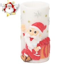 Flameless Candles with Timer, Battery Operated Santa Claus Design Christmas US