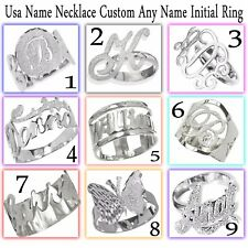 Personalized Name Ring In Sterling Silver 925, 9 Styles - Best Price. Name Rings