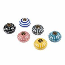 Multi-Coloured Round Ceramic Drawer Knobs Kitchen Cabinet Door Pull Handles