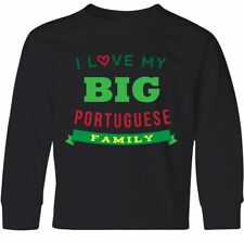 Inktastic Portuguese Family Heritage Reunion Gift Youth Long Sleeve T-Shirt Big