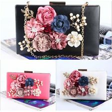 Women Evening Bag Clutch Flower Party Wedding Satchel Handbag Shoulder Bag Purse