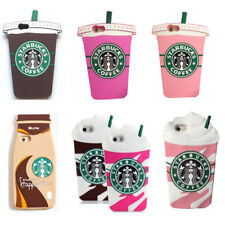 3D Starbucks Soft Silicone Case Phone Back Cover Skin for Samsung For iPhone