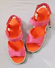 Lands End Pink Adjustable Sport Sandals Youth Sizes 6 and 7 Velcro Quick Dry NWT