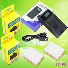 LP-E8 LPE8 battery + Charger For Canon EOS 550D 600D 700D Rebel T2i LC-E8E