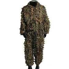 Camo 3D Ghillie Suit Leaves Woodland Camouflage Clothing Army and Jungle Hunting