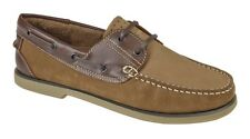 Mens New Brown Leather Deck Moccasin Boat Shoes Sizes 5 6 7 8 9 10 11 12