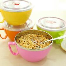 Solid Stainless Steel Instant Noodles Bowl With Lid With Handle Food Container