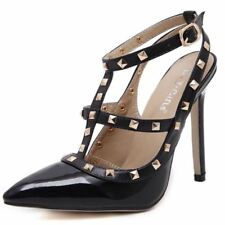 Women Pumps Ladies Sexy Pointed Toe High Heels Fashion Buckle Studded