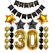 Happy Birthday Banner 30th-60th Birthday Foil Balloons Party Decoration