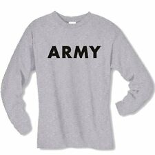 US ARMY STYLE T-SHIRT LONG SLEEVE Sport Gray or Military Green