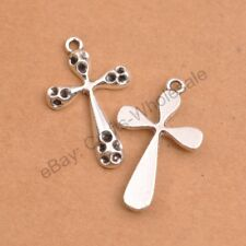 Wholesale 5Pcs Tibetan Silver Cross Charms Pendants Jewelry 33X20MM D349