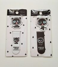 Tree In Art Oreo Cat magnetic page marker paperclips paper clips set of 2