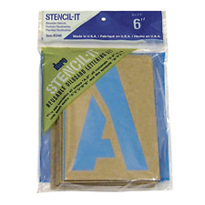 "Large Alphabet Stencils Letters 6"" Stencil Oil Board Numbers Symbols Reusable"